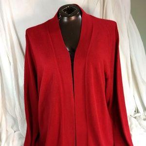 Red Sag Harbor Sweater Cardigan 2X